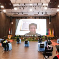 Sambutan Kepala Lembaga Layanan Pendidikan Tinggi (LLDIKTI) Wilayah IV secara daring